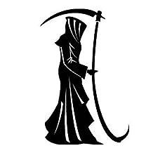 Grim Reaper Black Decal Vinyl Sticker|Cars Trucks Vans Walls Laptop| Black |5.5 x 3.5 in|LLI678