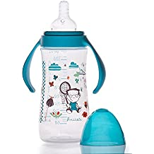 Little Bottle - Biberon 330 ml col large emballé en Pochon - Univers Le Petit Monde de Zélie - collection Secret Garden modèle Anatole