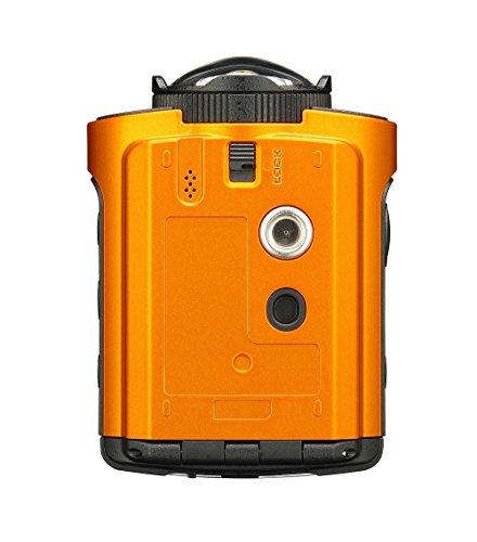 Ricoh WG-M2 kompakte und leichte Actioncam (4K-Video, 204 Grad Ultraweitwinkel-Objektiv) orange - 3