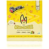 The Mumum Co. Cool Crunchies – Natural, Healthy Supergrain Roasted Puff Snacks for Kids – Strawberry-Banana, 20g - (Pack of 8 Pouches)