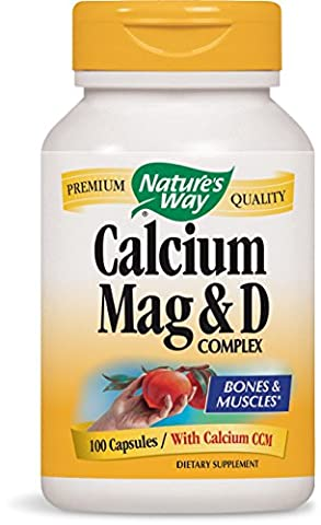Natures Way Calcium Magnesium & Vit D, 100 Caps