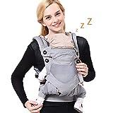 Babytrage Ergonomische Trage, Neugeborene Tragetasche, Baby-Tragegurt, 3,5-15kg Baumwoll Bauchtrage Rücken für Baby 4-48 Monate 3 Tragepositionenmit