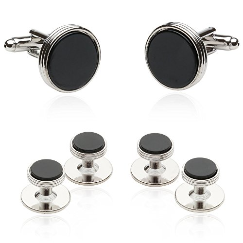 mens-onyx-and-silver-cufflinks-and-studs-formal-set
