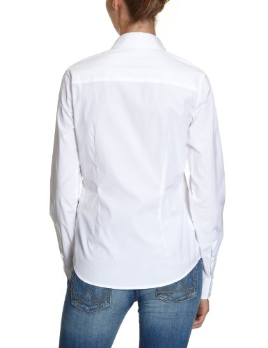 GANT Damen Regular Fit Bluse CO POP STRETCH SHIRT Weiß WHITE 110 ... dd6df07d9b