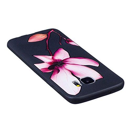 S7 Edge Hülle ,Samsung S7 Edge Shell Case , Galaxy S7 Edge Black Hülle, Cozy Hut® [Liquid Crystal] [Matte Black] [With Lanyard/Strap] Samsung Galaxy S7 Edge Ultra Slim Schutzhülle ,Anti-Scratch Shockp Lotus