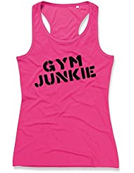 GYM JUNKIE Ladies Sports Vest (Pink)