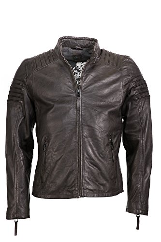 Gipsy by Mauritius Herren Lederjacke Biker Jacke Copper W16 LVW brun foncé