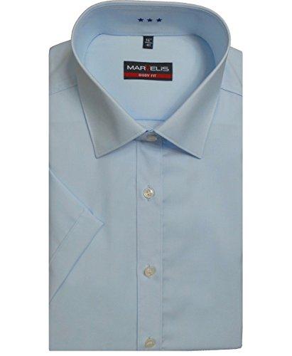 Marvelis -  camicia classiche  - basic - maniche corte  - uomo blu chiaro 44