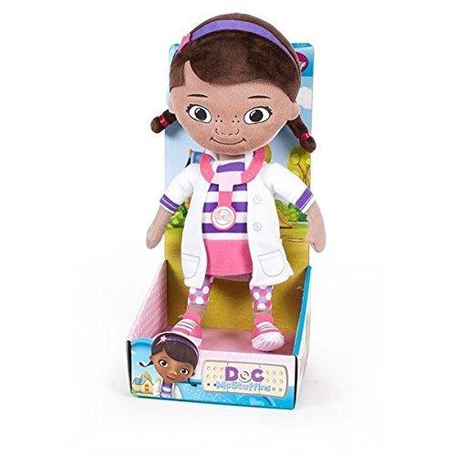 Dottoressa Peluche - Personaggi Dottie (la bambina) peluche CON TRONETTO 25cm seduta e 32cm in piedi, con blister - Buona qualità. (Doc McStuffins)