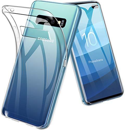 TopACE Cover Samsung Galaxy S10 Plus, Galaxy S10 Plus Custodia Puro Trasparente Morbida TPU Silicone Ultra Sottile Case per Samsung Galaxy S10 Plus(Trasparente)
