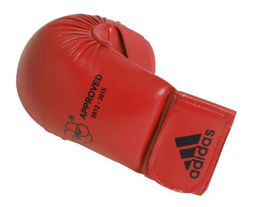 guantini karate kumite Adidas - Guanti da Karate-Kumite/Fit-Boxe Rosso Omologati Wkf (M)