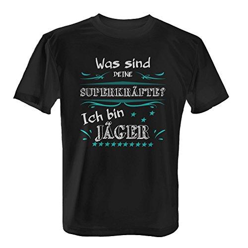 Was sind deine Superkräfte? Ich bin Jäger - Herren T-Shirt von Fashionalarm   Spaß & Fun Shirt mit Spruch   Geschenk Idee für Männer Berufseinsteiger & Absolvent Beruf Job Arbeit Lustig Jagd Jagen Schwarz