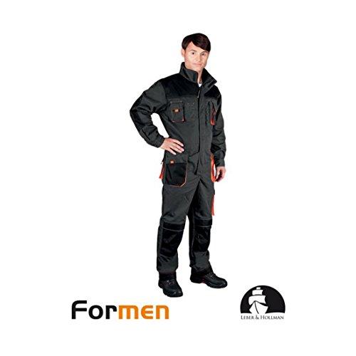 Profi Arbeitsoverall schwarz/orange 50 Arbeitsanzug Arbeitskleidung Schutzanzug Arbeitskombi