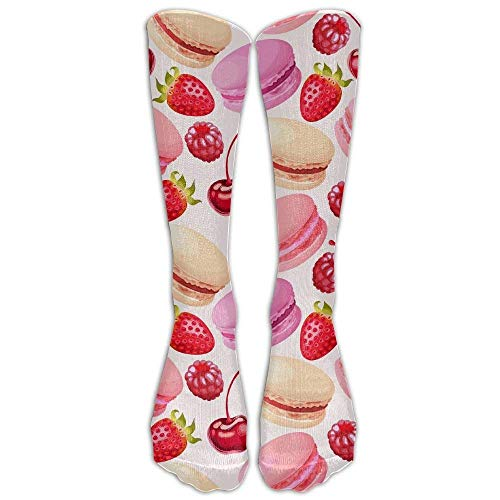 ouyjian Macarons Donuts Cherry Strawberry Below High Socken Suits Women & Men Athletic Sports Socken Stocking (Verrückt Suits Mens)
