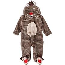 smartlady invierno ciervo romper pijama de beb nios niasclido marrn