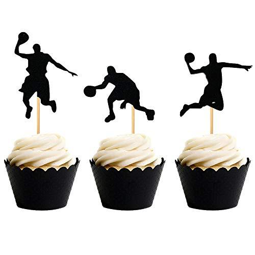 JeVenis NBA Star Cupcake-Topper Basketball Kuchen Topper Basketball Spieler Cupcake Picks Basketball Star Cupcake Dekoration für Basketball Mottoparty Dekorationen Supplies