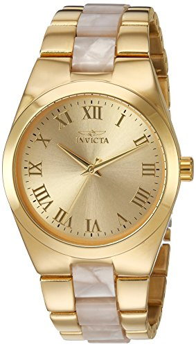 Invicta Women's 'Angel' Quartz and Stainless Steel Casual Watch, Color:Two Tone (Model: 20481)