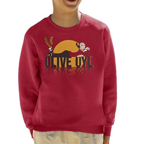 Popeye Olive OYL Dark Text Kid's Sweatshirt