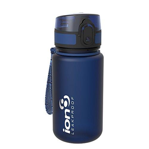 Ion8 auslaufsichere Kinder Wasserflasche/Trinkflasche, BPA-frei, 350ml/12oz, Dunkelblau