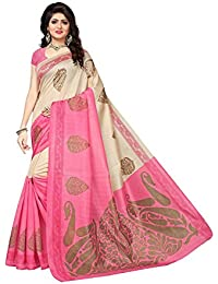 Krishna Emporia Party Wear Cotton Silk Georgette Multi Colour Saree With Blouse (New Sarees 0606)