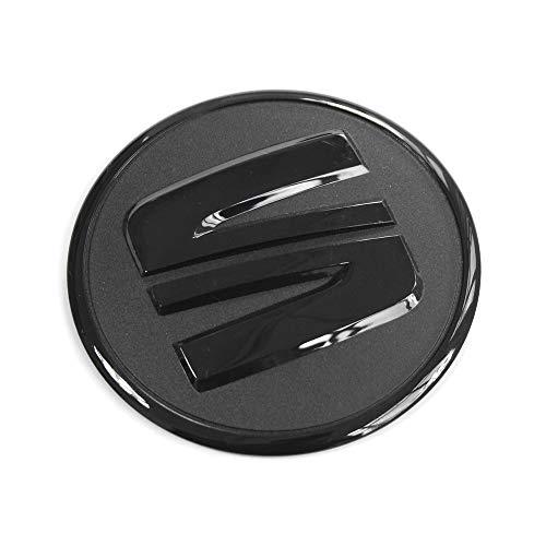 Seat 5F0103940 Logo Zeichen Motorabdeckung Emblem Motorraum Abdeckung Aufkleber, schwarz