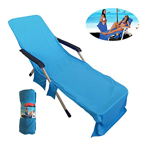 OTENGD Strandkorb Pooltücher, Anti-Sweat Mikrofaser Lounge Chair Slip Towel Cover, kühlende saugfähige atmungsaktive saubere Liege Liner Cover für Pool Beach Chair - Extra Saugfähig Atmungsaktive Slips
