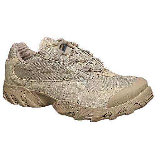 DFGRFN Stivaletti di Sicurezza Scarpe Outdoor da Uomo Scarpette da Arrampicata per Camminata Resistenti all'Usura Stivali da Deserto Traspiranti Leggeri,Brown-39