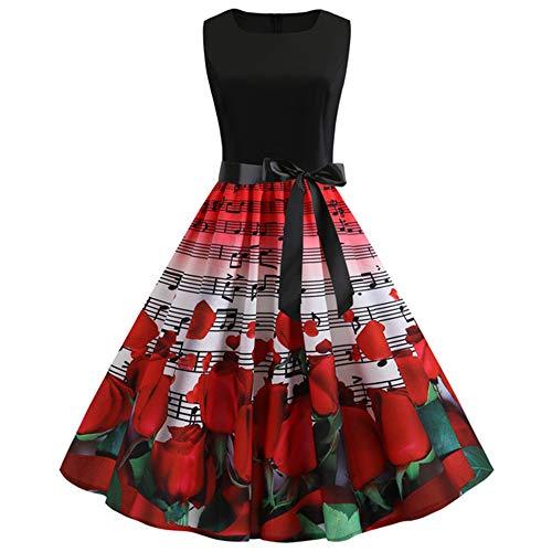 KKVK Abito Estivo da Donna Vestito da Festa Abbigliamento da Lavoro Casual Dressin Una varietà di Stili X1 S