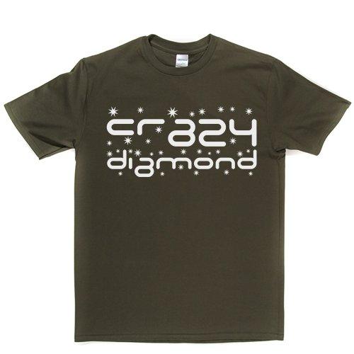 Crazy Diamond Track Song 1993 T-shirt Militärgrün