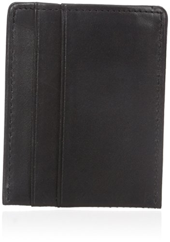 dopp-mens-leather-card-holder-with-magnetic-money-clip-wallet-black