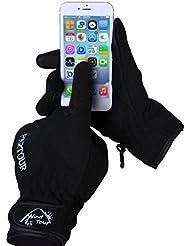 OUTAD Gants Tactiles Hiver Adulte avec Doublure Chaud Compatible Avec Écran Tactile