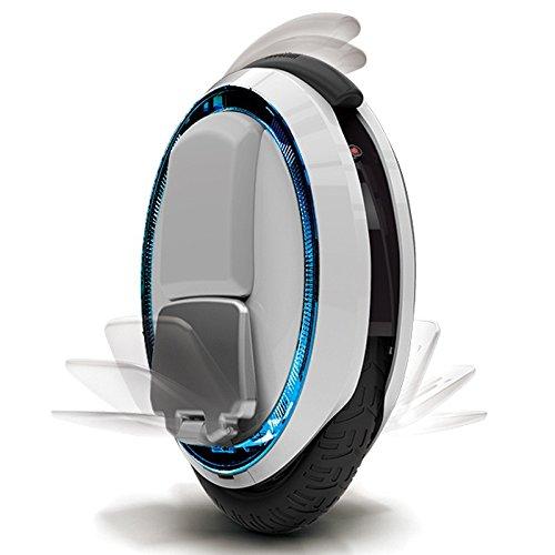 HG Smart Technologien® Ninebot One E + one-wheel self-balancing Electronic Einrad Scooter Board Segway und Zubehör 120W Standard Ladegerät 320Wh Hohe Kapazität Akku weiß Version Ninebot E+
