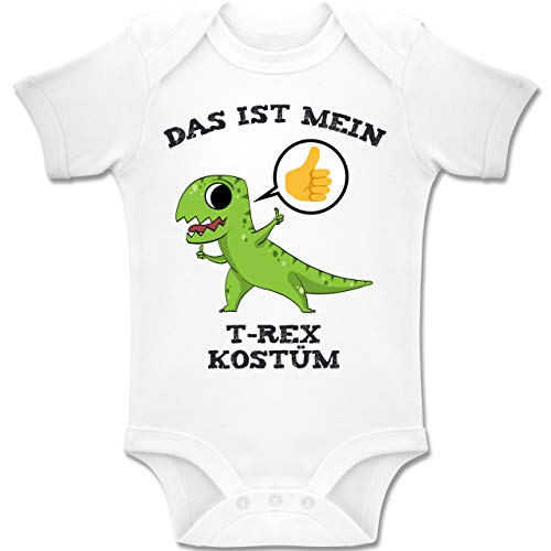 (Shirtracer Karneval und Fasching Baby - Das ist Mein T-Rex Kostüm Comic - 6-12 Monate - Weiß - BZ10 - Baby Body Kurzarm Jungen Mädchen)