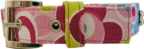 Halsband Pink Flowers aus kräftigen Canvas Material – Wir schenken Ihnen die Leine dazu - 2