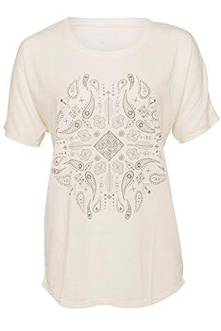 Batik T-Shirt Größe: L Farbe: Weiß