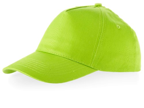 Baseball Cap 'Euro' = 100% Baumwolle im 13 Farben (Apple Green) Panel Apple