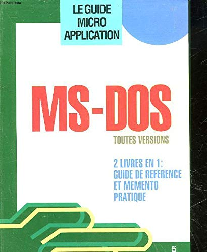 MS-DOS : toutes versions par Helmut Tornsdorf, Manfred Tornsdorf
