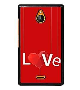 Love 2D Hard Polycarbonate Designer Back Case Cover for Nokia X2 Dual SIM :: Nokia X2 RM-1013 :: Nokia X2DS
