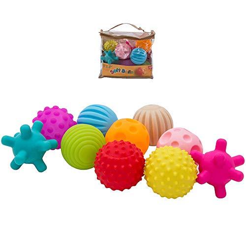 Lovestory 10pcs palla sensoriale palle morbide massaggio giocattoli educativi per bambini prima