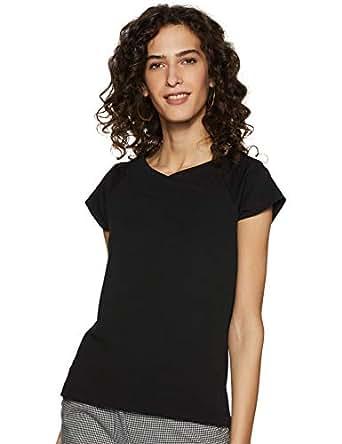 Miss Olive Women's Plain Regular fit Top (MOSS19TP30-05-62_Black_XS)