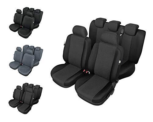 Auto Universal Set Autositzbezüge Schonbezüge Schwarz-Grau Vordersitze und Rücksitze mit Airbag - Ares L1 ()