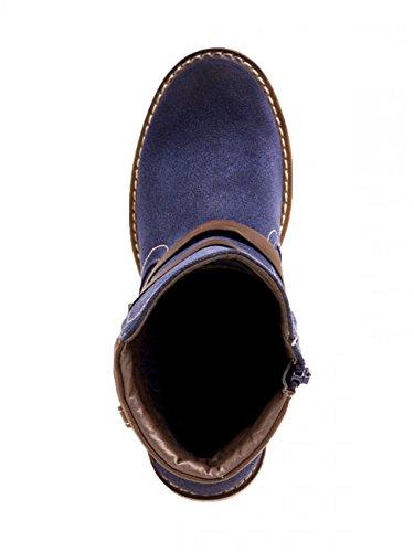 CASPAR SBO073 Scarponcini per tallone in finta pelle da donna Blu (blu)
