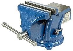 Robuster Schraubstock 125 mm Backenbreite für Werkbank 360° drehbar (Spannweite 120 mm, Gewicht 8,5 Kg)