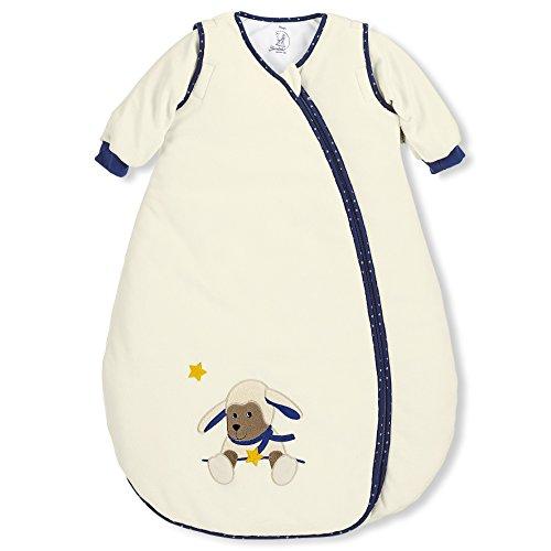 Sterntaler Schlafsack für Kleinkinder, Abnehmbare Ärmel, Wärmeregulierung, Reißverschluss, Größe: 90, Stanley, Crème