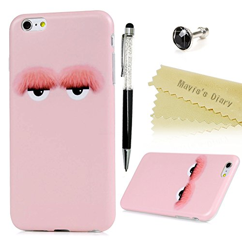 Mavis's Diary Coque iPhone 6 Plus/iPhone 6S Plus TPU Souple Dessin Housse de Protection Étui Téléphone Portable Phone Case+Stylet+Bouchon Anti-poussière Coloré motif 11