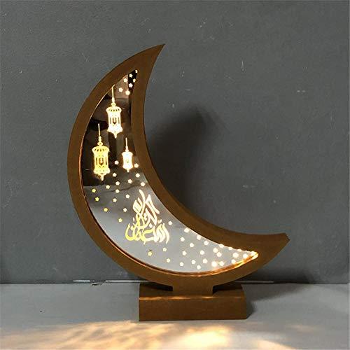DIY Tischlampe LED Nachtlampe aus Holz für muslimischen Islam Eid Ramadan Festival Lampe Schreibtischlampe Geschenk Schlafzimmer Ramadhan Kareem Islam