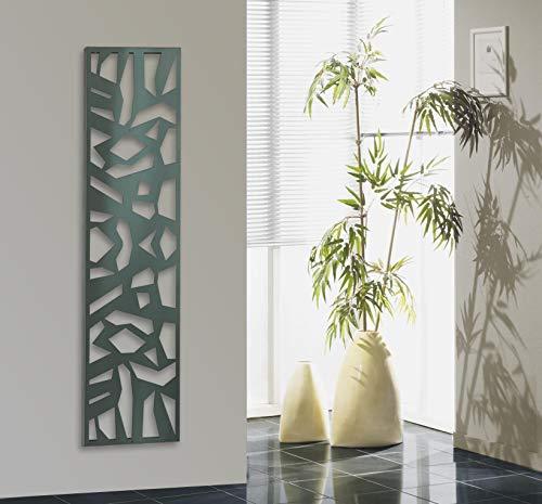 Wandgarderobe/Garderobe, Design Mosaik, 140x40x2 cm, Edelstahl mattiert/fein geschliffene Oberfläche (Marke: Szagato, Made in Germany) (Kleiderständer Garderobenständer)