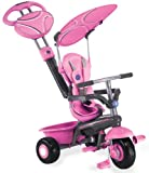 Smart Trike 179-0200 - Triciclo con mango y parasol (3 en 1), color rosa