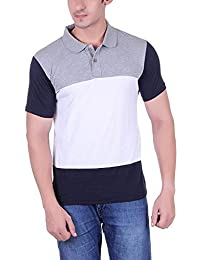 Vivid Bharti Men's Cotton Half Sleeve Solid Polo T-Shirt (Multicolour, XXXL)