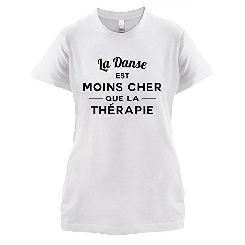 La danse est moins cher que la thérapie - Femme T-Shirt - 14 couleur Blanc